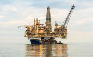 Aardgas winning in de Noordzee
