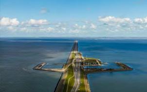 Blauwe Energie centrale aan De Afsluitdijk